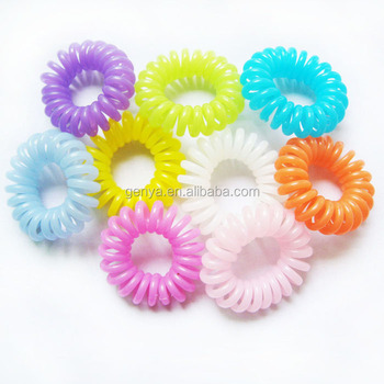 Fancy Cheap mini spiral hair bands Phone line hair tie ponytail holders 426a9da77bb