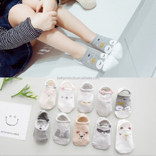 2017 spring and autumn new adorable 3d cartoon children's hosiery followed by antislip silicone baby socks