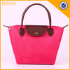 Custom Women Fashion Nylon Tote Shoulder Beach Bag With Leather Handles