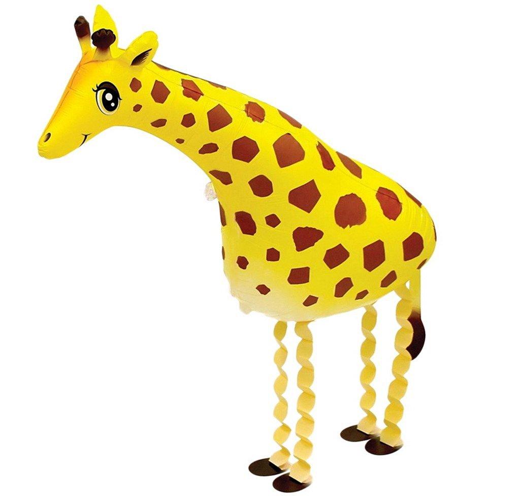 Smile YKK Children Birthday Party Decoration Animal Giraffe Shaped Mylar Balloons