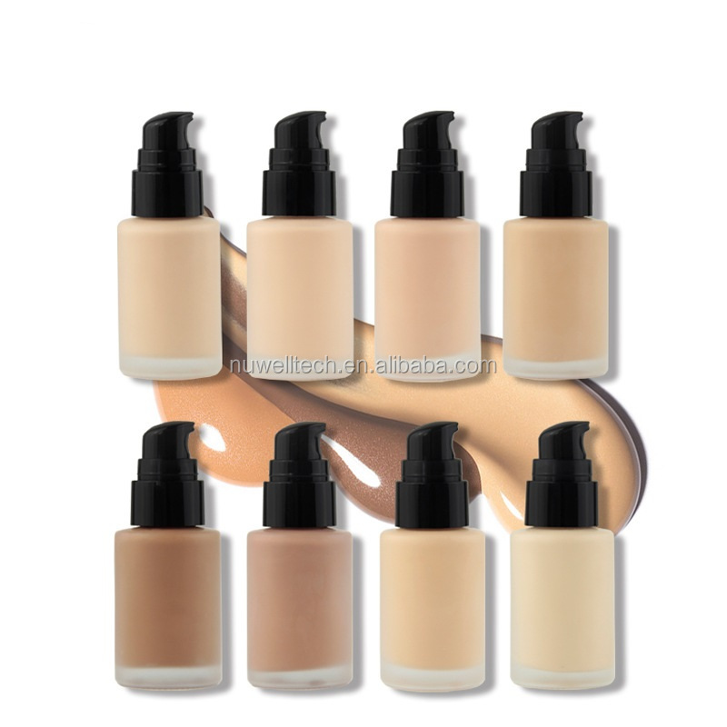 Print your own logo concealer cosmetic 8 colors full cover liquid foundation Private label