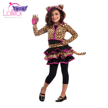 OEM welcome fancy kids tiger costume for girls