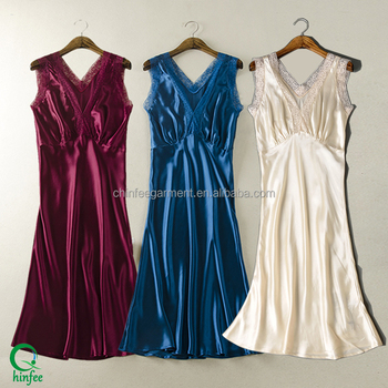 Women New V Neck Silk Nightgown Sexy Nighty Designs Buy Silk