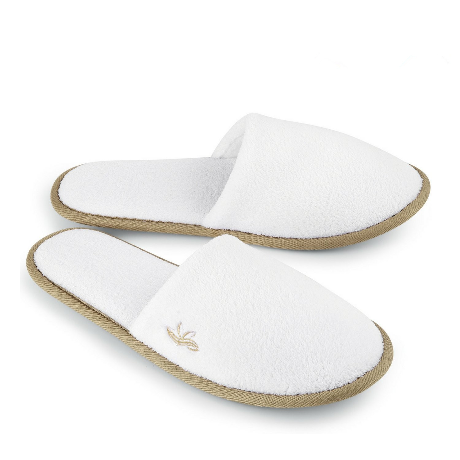 Spa Slippers Closed Toe, Disposable Indoor Coral fleece Hotel Slippers