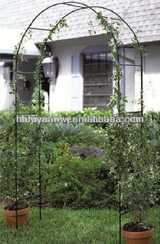 Galvanized And Pvc Coated Wrought Iron Garden Arch Gate Fene Manufacture  Price