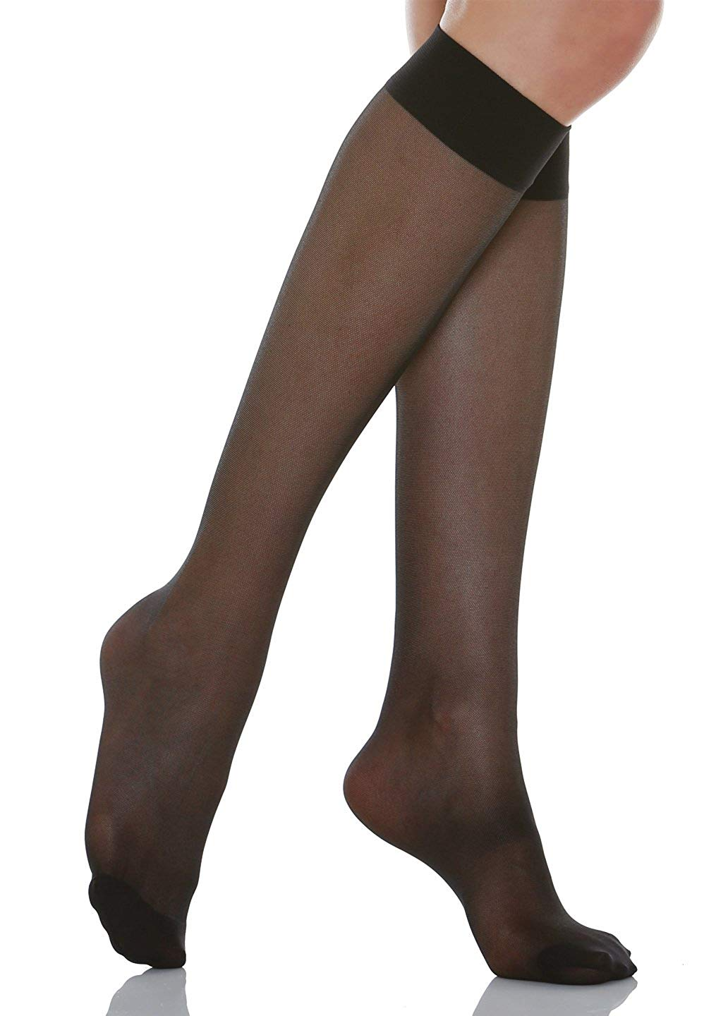 1de96d08c0e Get Quotations · Alpha Medical 15-20 mmHg Compression Knee High Stockings