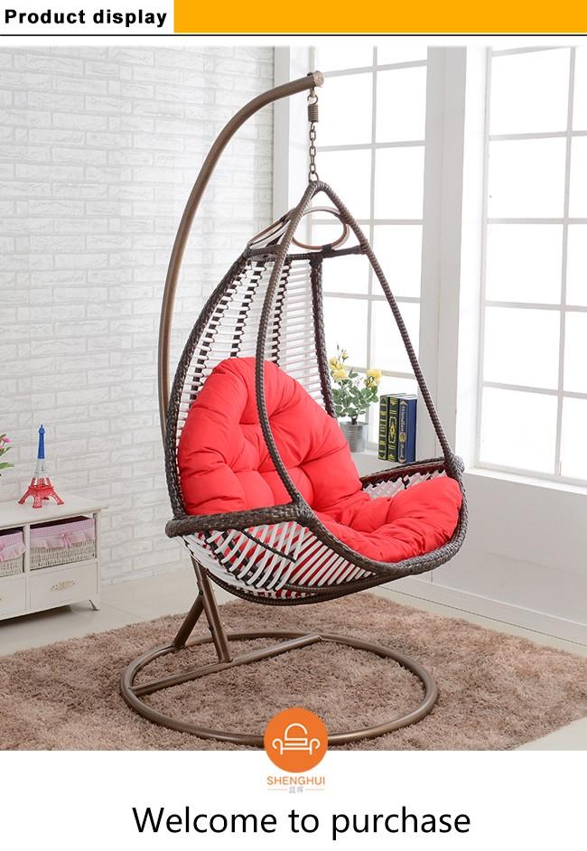 Bird Nest Chair Outdoor Indoor Wicker Hanging Swing Big Round Wicker Nest  Chair