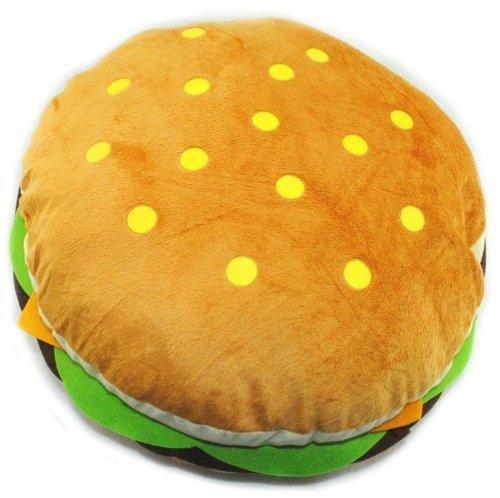Dr.Luck Lovely Plush Stuffed Huge Hamburger Throw Pillow/ Toy