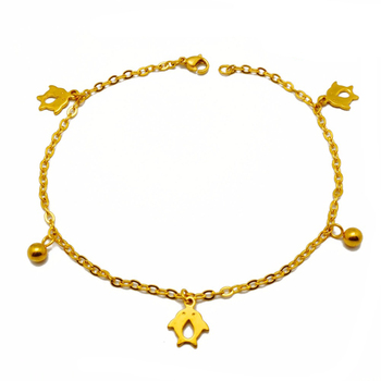 Fake Gold Jewelry Anklet Women Cute Penguin Foot Chain Wholesale China 0e8fb85880
