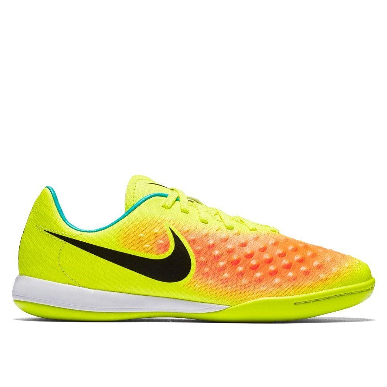 80bb5e6085e5b Get Quotations · Nike Kids' Jr. Magista Opus IC Indoor Soccer Shoe (Volt,  Total Orange