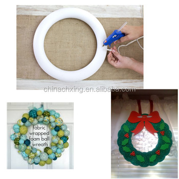 Creative different size styrofoam Wreath Ideas for the Holiday