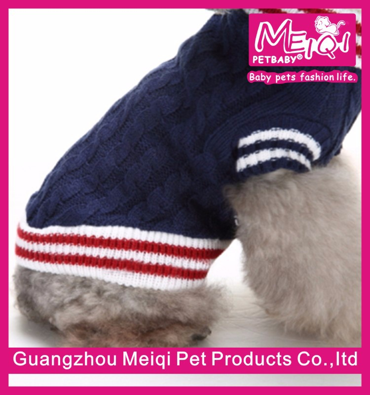Hot sale college pet sweater pet clothes dog sweater plain sweater for dogs