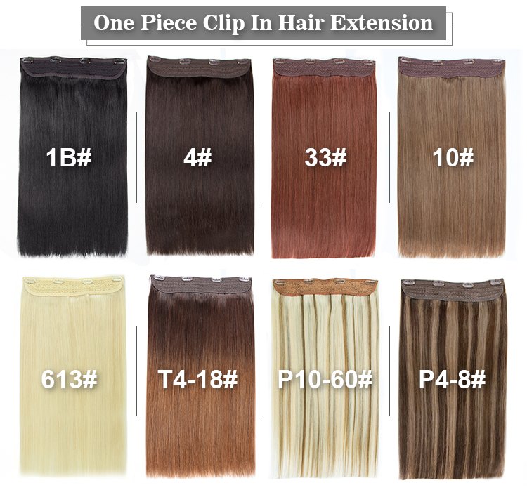 Durable Wholesale Brazilian Clip In Hair Extension20inch 1b 100