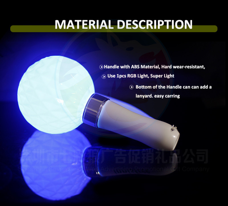 BTS Concert 15 Colors Change LED Glowing Ball Sticks For Fan's Concert Cheering Offical LED Light Ball Stick