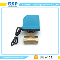 110v Ac or 12v Dc Two Wires Spring Return When Power Off Electric Ball Valve 1/2