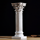 Indoor home decorative small resin roman pillar
