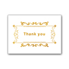 custom script gold foil letter printing 100 thank you note cards with envelopes