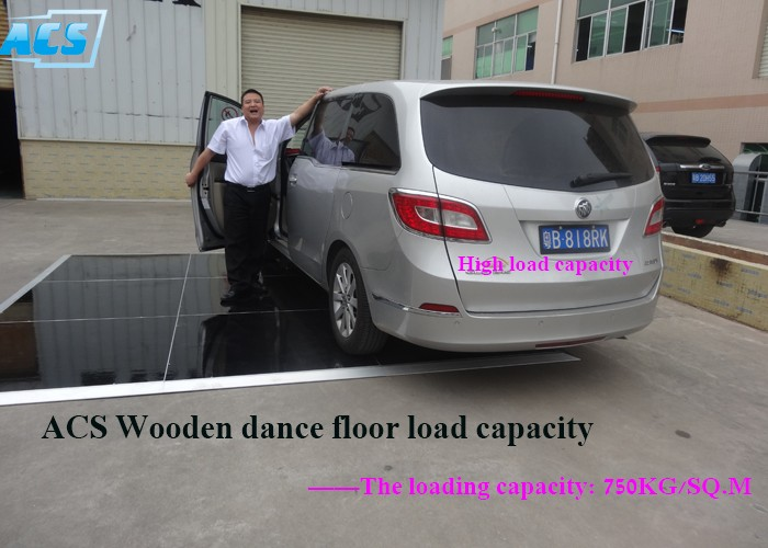 Acs Laminate Wood Dance Floor For Exhibition Display Booth