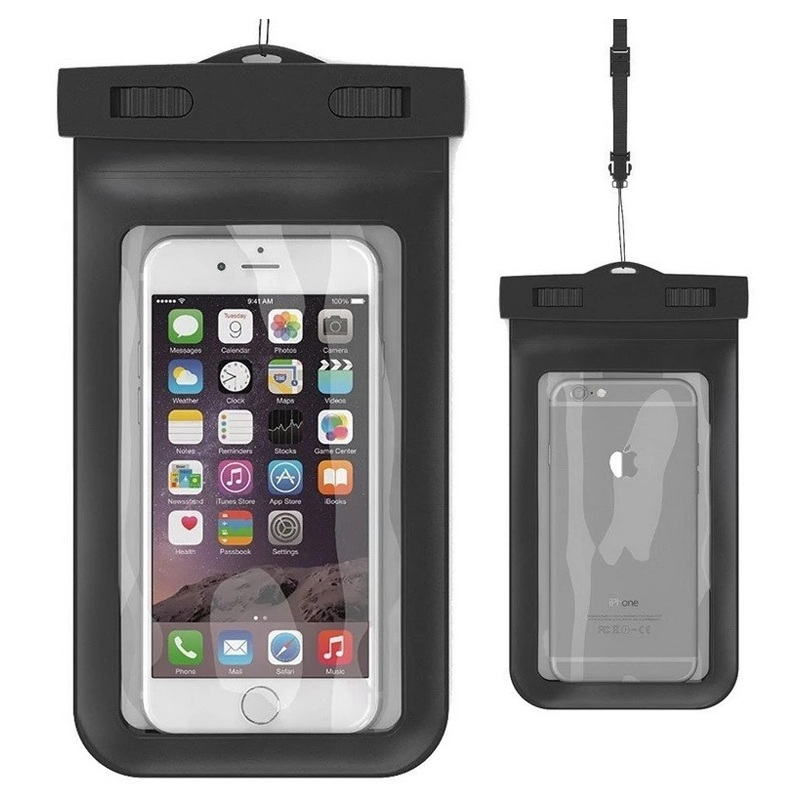 Top quality PVC 8cm <strong>hot</strong> and best sell custom IPX8 mobile phone waterproof case bag, waterproof phone pouch with neck cord