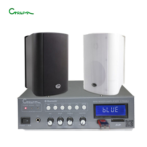 CTRLPA 60w bluetooth mixing amplifier + 20w wall mount speaker mini sound system for shop supermarket coffee shop