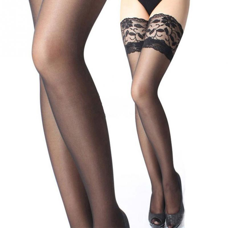 c88f6f2fe2968 Get Quotations · 2015 New sexy stockings Black White thigh high stockings  for Women pantyhose stockings Lace Floral^
