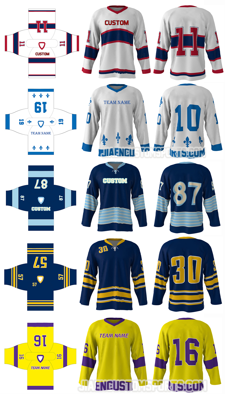 Newest Team Set Hockey Jerseys Custom Cheap Sublimation Blank Usa