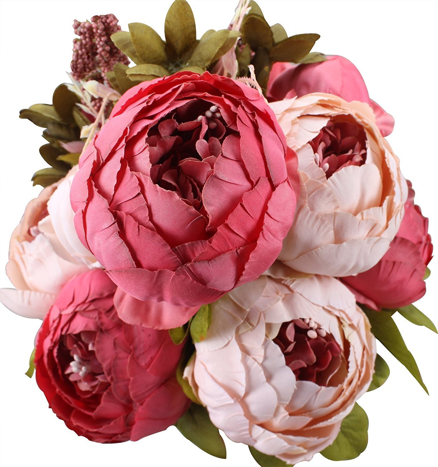 Buy Crazy Store Artificial Peony Silk Flowers Home Wedding Party