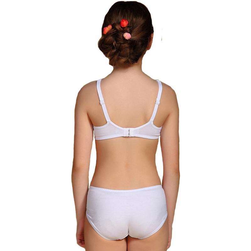 2016 Puberty Girls Kids Padded Bras And Matching Pants Sets Kids ... 7f72a24a8