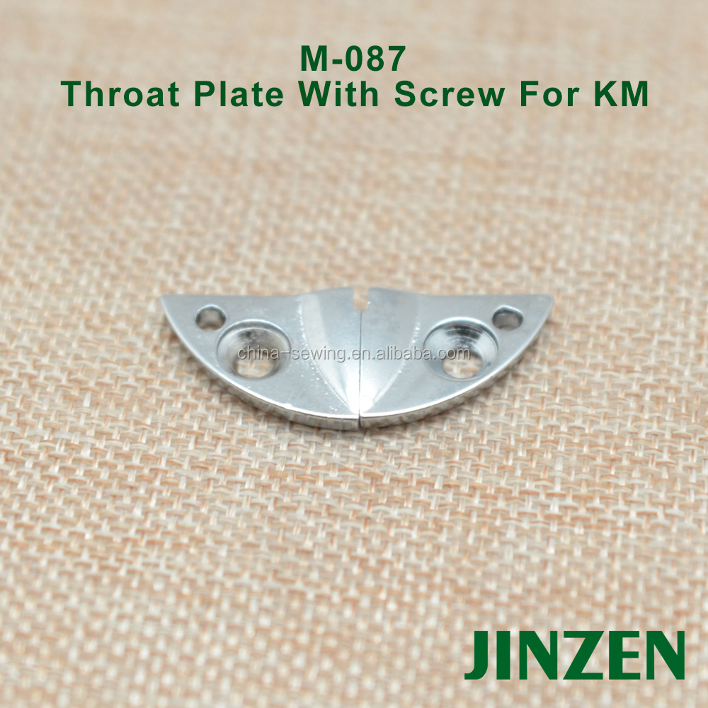 High quality M-087 M-088 Throat Plate with grews for KM cloth cutting machine KM spare parts