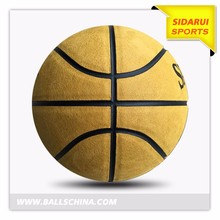 Latest bottom price Soft cow leather mini basketball