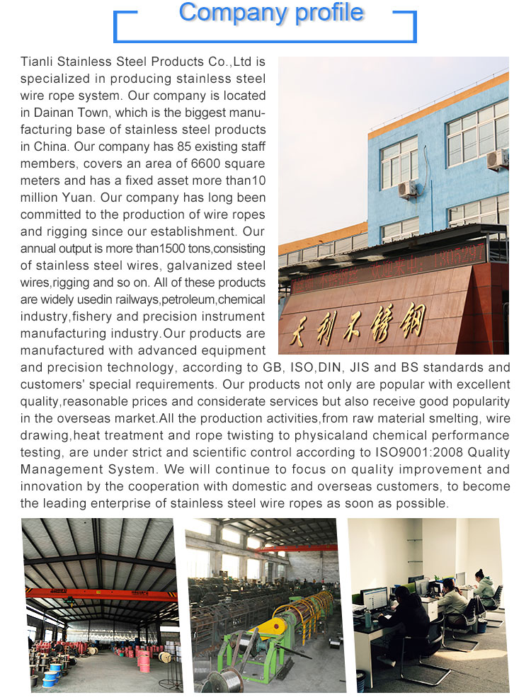 Stainless steel cable wire rope manufacturer