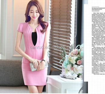 Wholesale Business Women Suit Models Long Sleeved Two Piece Dress