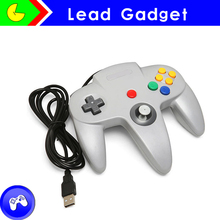 Wired game controller for nintindo 6 button game controller for n64 usb for nintendo usb 64