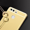 Wholesale alu aluminum bumper gold PC mirror cellphone case for HUAWEI P9
