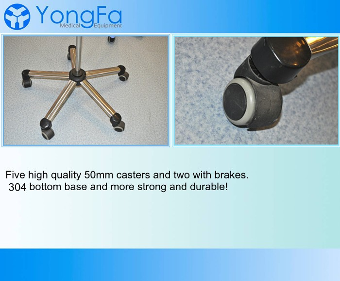 YFQ029 Mobile Stainless Steel Frame Infusion Pole