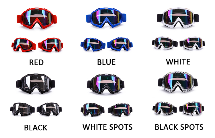 Factory wholesale sports racing glasses tear off roll off motocross goggles