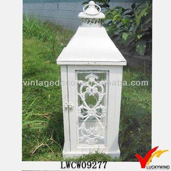 Lanterne Grandi Da Esterno.Giardino Di Campagna In Stile Francese Legno Lanterna Di Candela