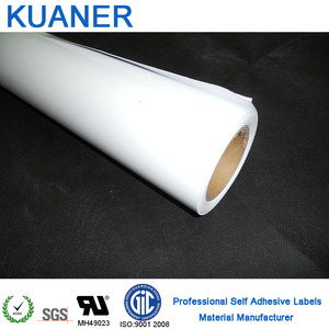 PVC film self adhesive vinyl labels material for outdoor ,excellent printing