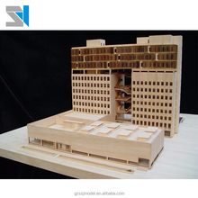 Wooden material 3d building model , miniature scale building model for real estate