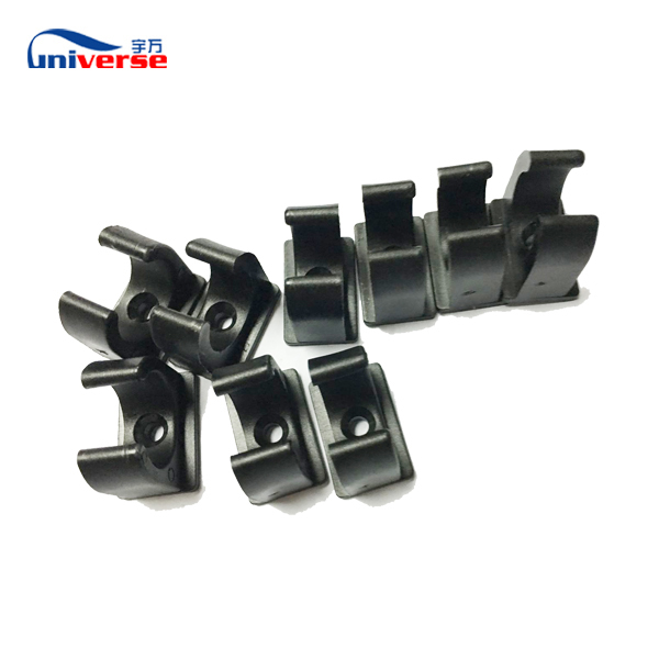 pvc/pp plastic injection molded parts tube clips oem