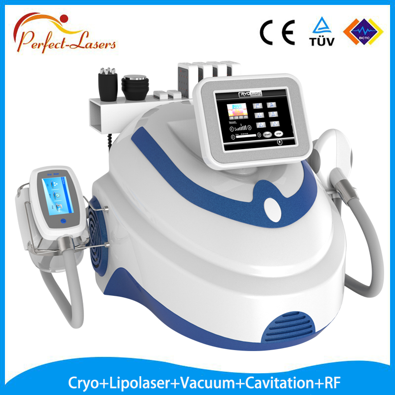 Best beauty device with 5 techniques in one Cryolipolaser/ Lipolaser/Cavitation/Vaccum/RF slimming machine