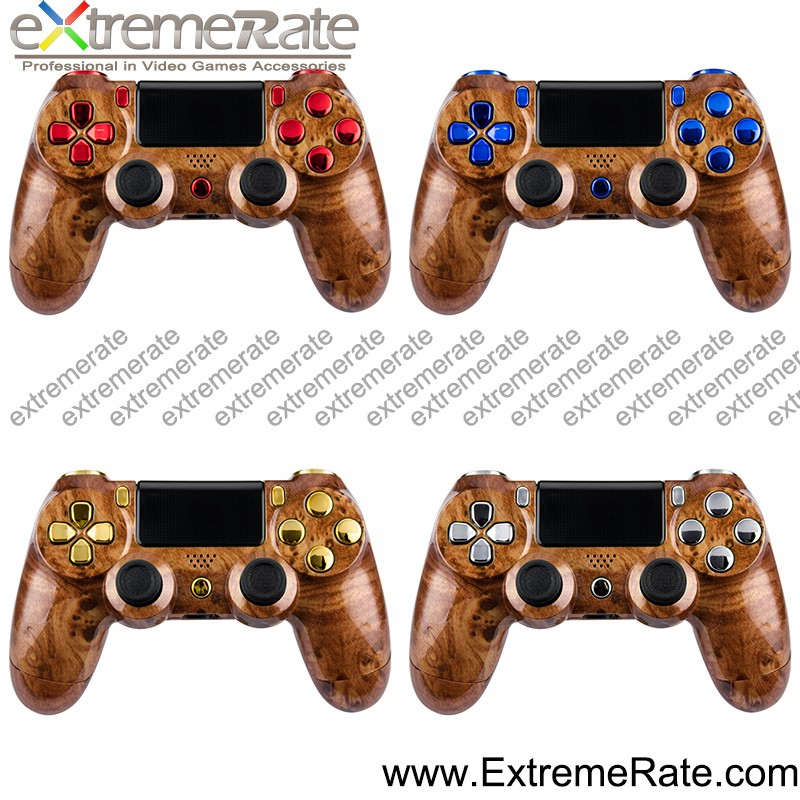 2017 New Design Abs Replacement Parts For Ps4 Controller Hydro Dipped Full  Shell Mod Kit (solid Wood Surface) - Buy For Ps4 Hydro Dipped Shell,For Ps4