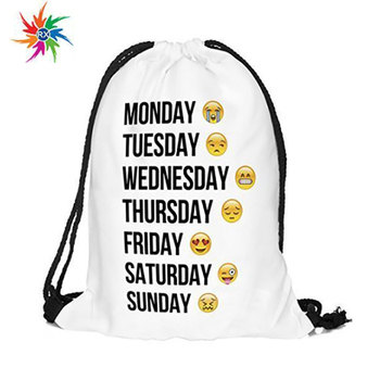 Personalized Emoji Printed Drawstring Backpack Diy Bag With Your Picture Buy Drawstring Backpack Printed Backpack Printed Bag Product On Alibaba Com