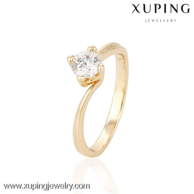 13995-cheap wholesale fashion jewelry 18k gold one stone ring designs for girls