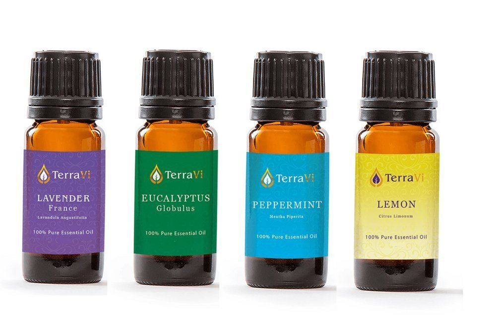 Aromë ESSENTIAL OIL DISCOVERY KIT: LAVENDER, EUCALYPTUS, PEPPERMINT & LEMON (4-PACK), 100% Pure Essential Oil, Undiluted, Therapeutic Grade Essential Oil