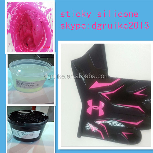 textile screen printing type, sticky liquid silicone rubber, goalkeeper gloves printing ink