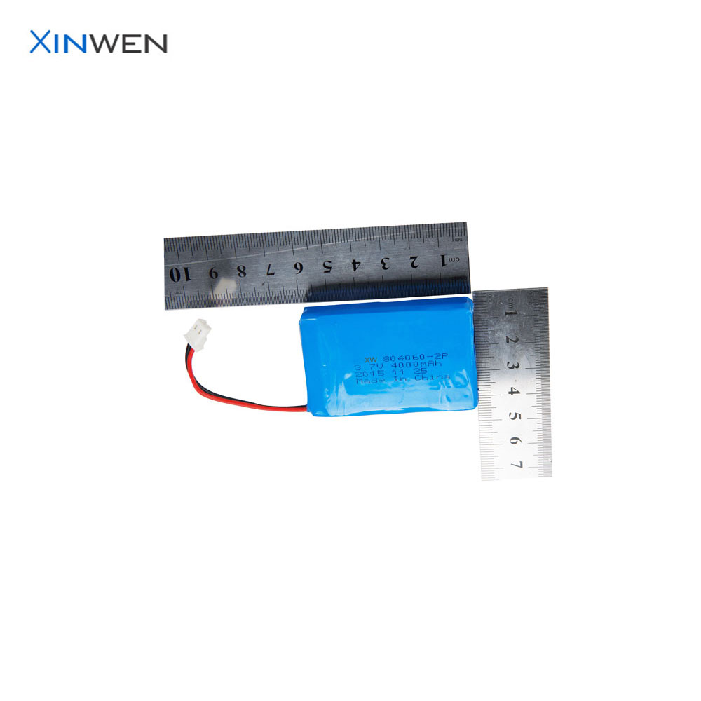 China battery manufacturer XW 804060 2P1S 4000mAh lithium ion battery 3.7v
