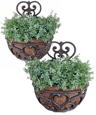 Get Quotations Two Pack Of Esschert Design Victorian Half Round Wall Planters