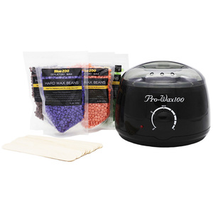 Amazon Hot Selling Black Electric Wax Warmer with Wax Beans and Sptual  Sticks