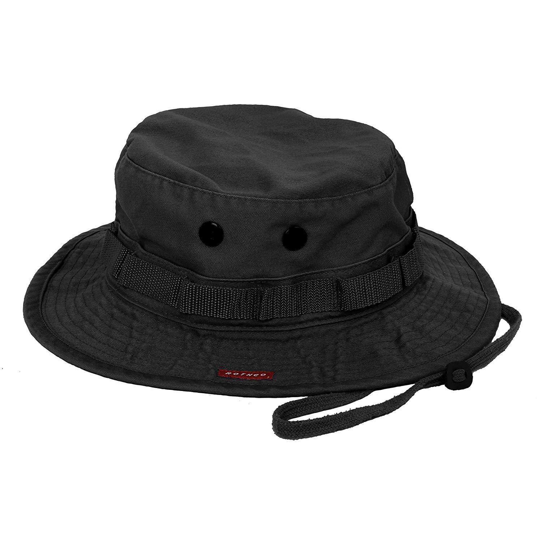 Rothco Vintage Boonie Hat, Black, 7 1/4